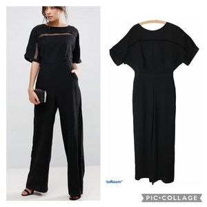 ADELYN RAE Kimono Sleeve Cut Out Jumpsuit M Nwot